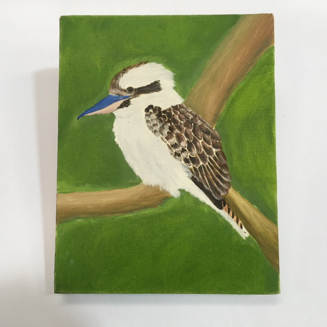 PIC0103 PIC, Kookaburra Painting On Canvas $10