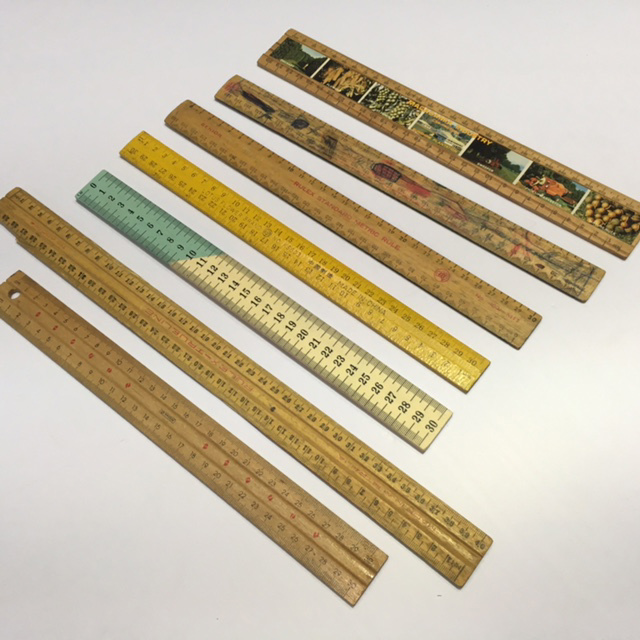 RUL0004 RULER, Wooden Metric $1.25