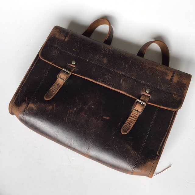 SAT0003 SATCHEL, Dark Brown Vintage Style $18.75