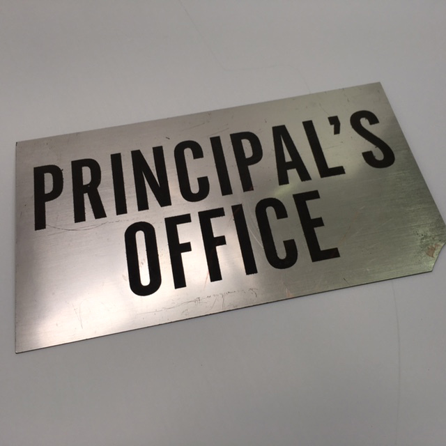 SIG0082 SIGN, School - Principals Office (Chipped Corner) $11.25