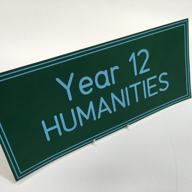 SIG0083 SIGN, School - Year 12 Humanities $11.25