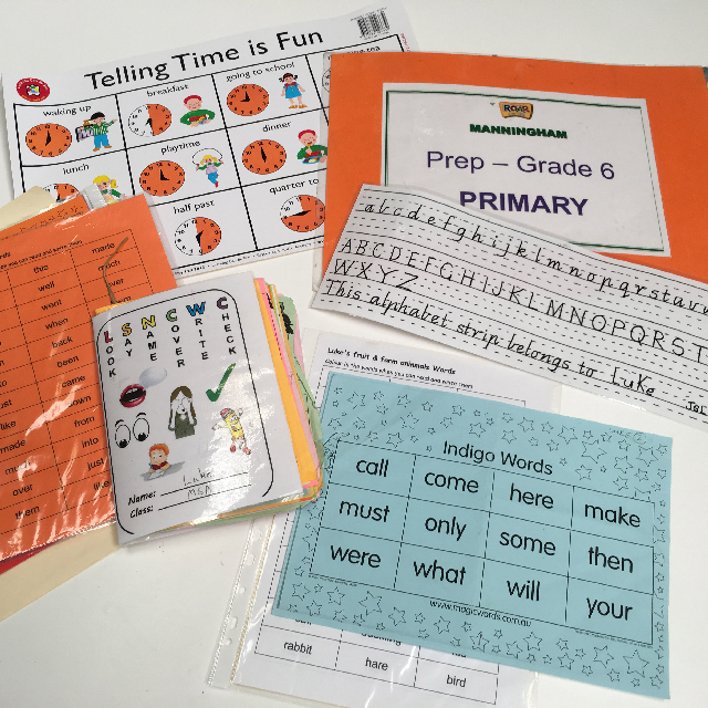 TEA0100 TEACHING AIDS, Assorted Primary Class Printouts $2.50