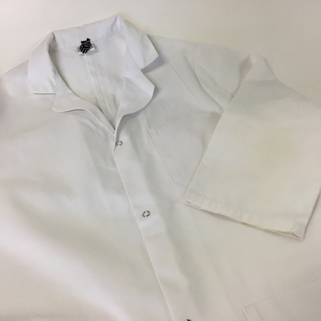 CLO1016 CLOTHING, Lab Coat - White $15