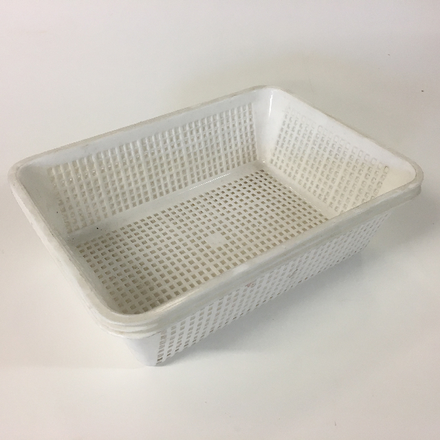 STO0409 STORAGE BASKET, Plastic - Medium White $1.90