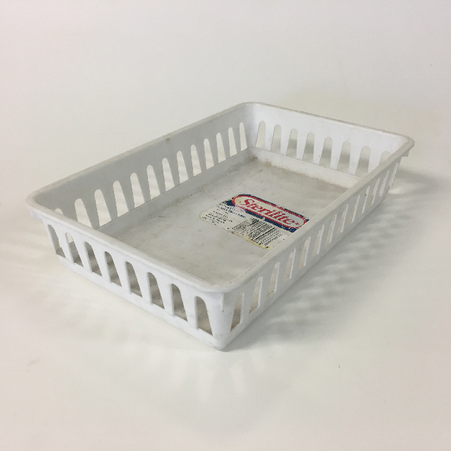 STO0412 STORAGE BASKET, Plastic - Small White $1.25