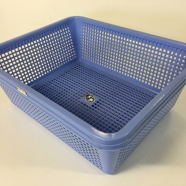 STO0401 STORAGE BASKET, Plastic - Large Blue $2.50