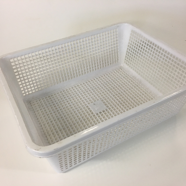 STO0403 STORAGE BASKET, Plastic - Large White $2.50