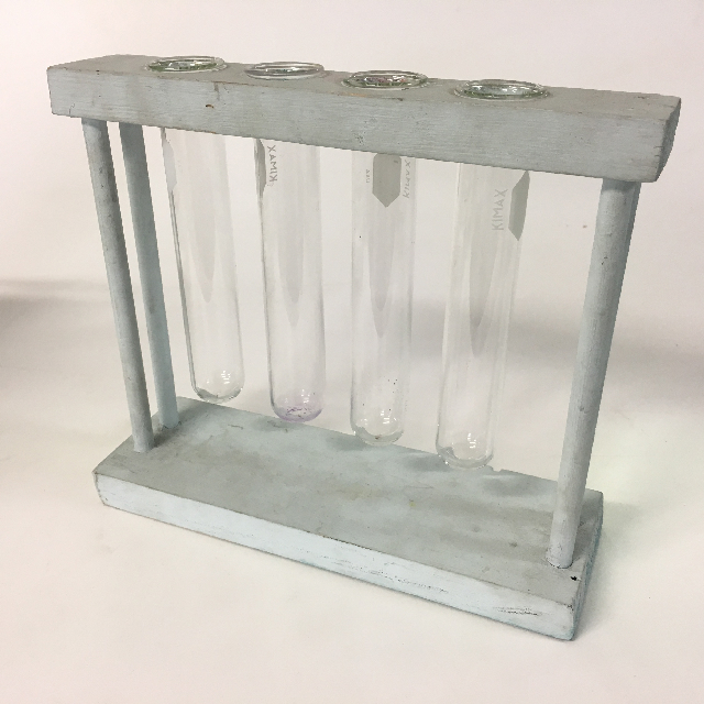 TES0002 TEST TUBE RACK, Grey w 4 Test Tubes $8.75