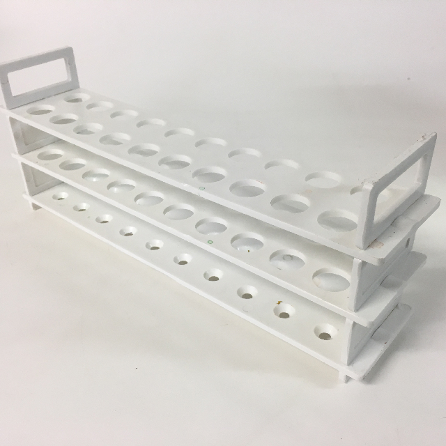 TES0005 TEST TUBE RACK, White 20 Hole $5