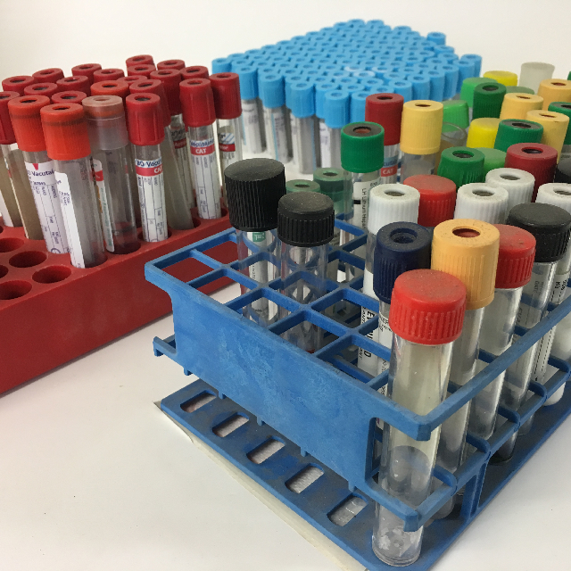 VAC0052 VACUTAINER, Blood Collection Tube - Tray Set $15 or Single (VAC0051) $1