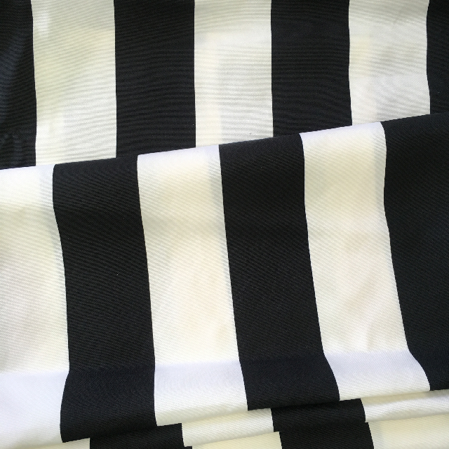 FAB0020 FABRIC INSERT, Banner / Screen - Black & White Stripe Fabric $15