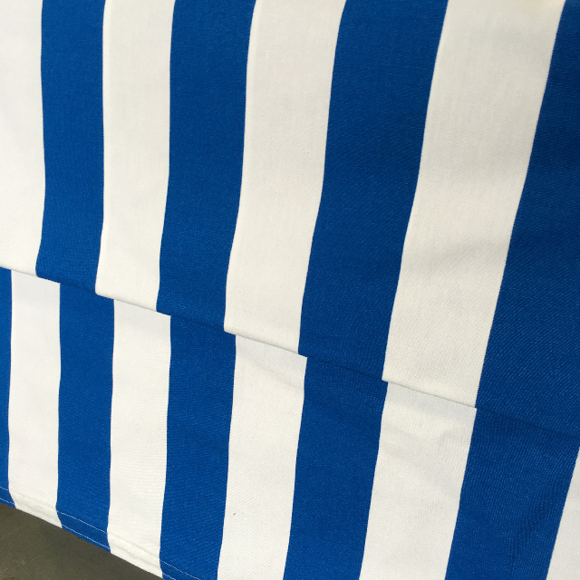 FAB0001 FABRIC INSERT, Banner / Screen - Blue & White Stripe Fabric $15