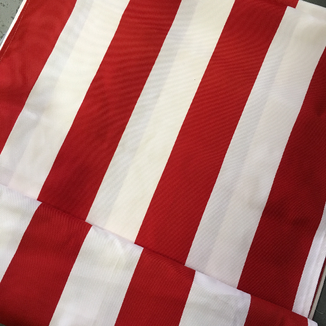 FAB0002 FABRIC INSERT, Banner / Screen - Red & White Stripe Fabric $15