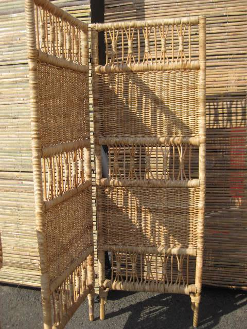 SCR0004 SCREEN, BAMBOO 1.6m x 60cm (Bifold Screen) $40