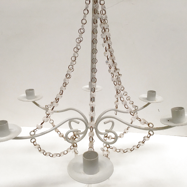 CAN0004 CANDELABRA, Hanging Cream & Beading 6 Arm $18.75