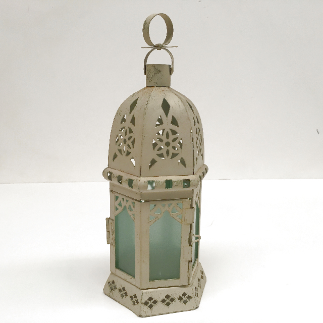 LAN0022 LANTERN, Cream Dome Shape $5