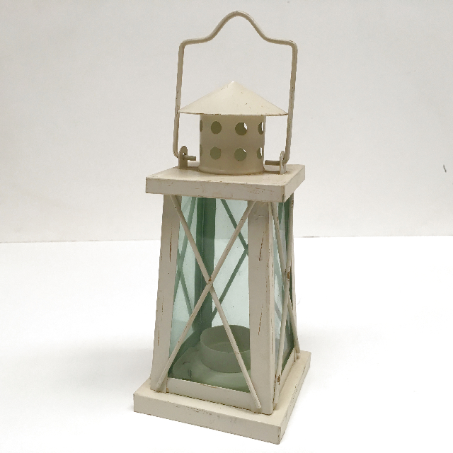 LAN0023 LANTERN, Cream Square Shape $5