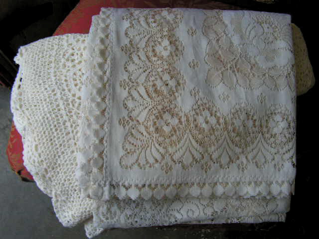 Lace Tablecloths / Overlays $7.50 - $20 Each
