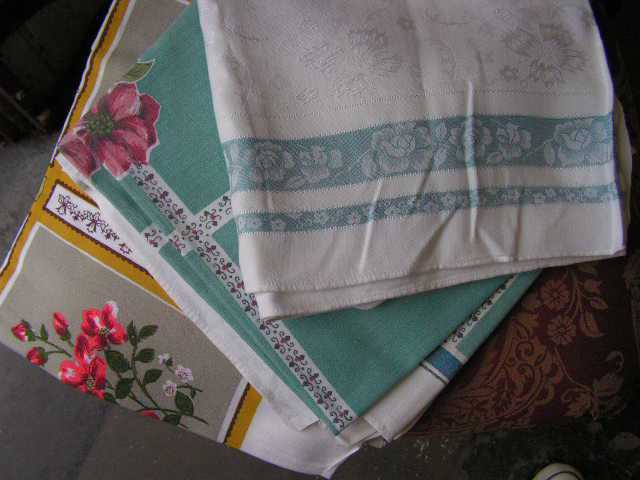 Vintage Patterned Tablecloths / Overlays $7.50 - $20 Each