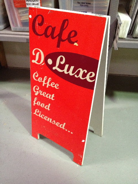 SIG0103 SIGN, A-BOARD (DBL Side) - Travel & Café D Luxe $37.50