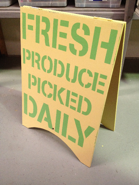 SIG0105 SIGN, A-BOARD, Fresh Produce Picked Daily $37.50