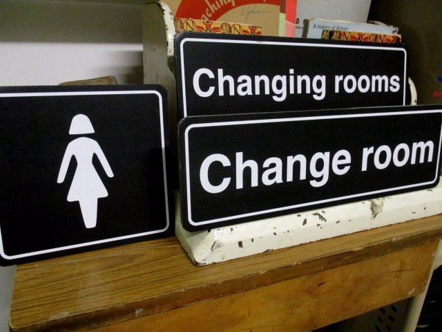 SIG0150 SIGN, Amenities - Change Room $15