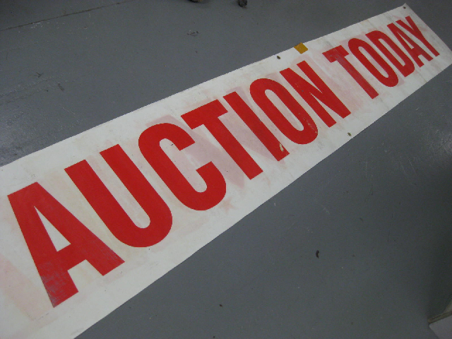 SIG0201 SIGN, Banner (DBL Side) - Farewell & Auction 50cm x 3.8m $50