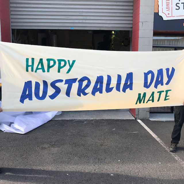 SIG0703 SIGN, Banner - Happy Australia Day $37.50