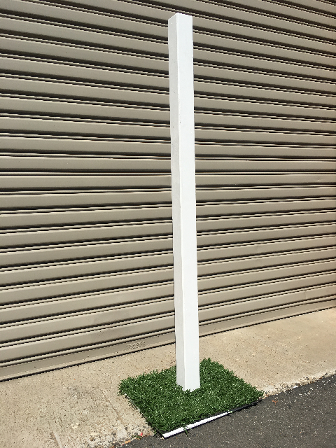 SIG0415 SIGN POST, White w Grass Base 1.8m H (for Alice Sign Pointers) $22.50