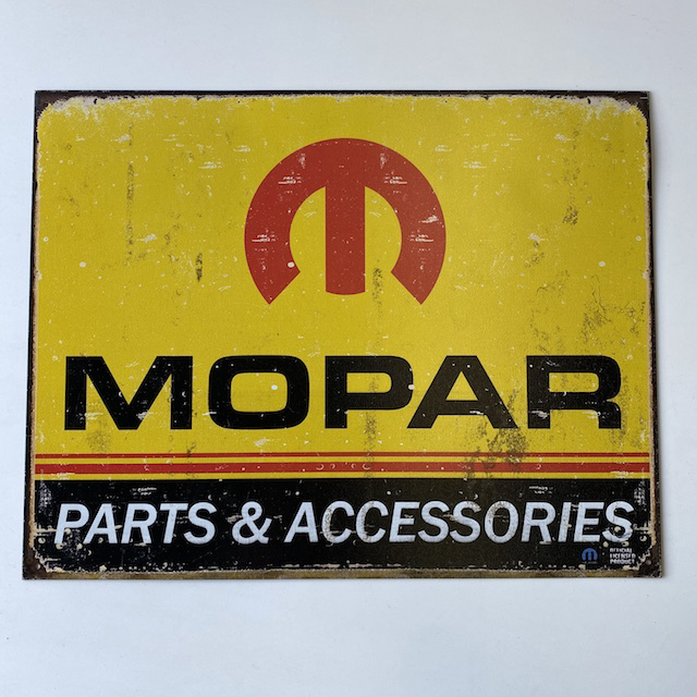 SIG0654 SIGN, Garage - Mopar Parts and Accessories 31 x 40cm $11.25