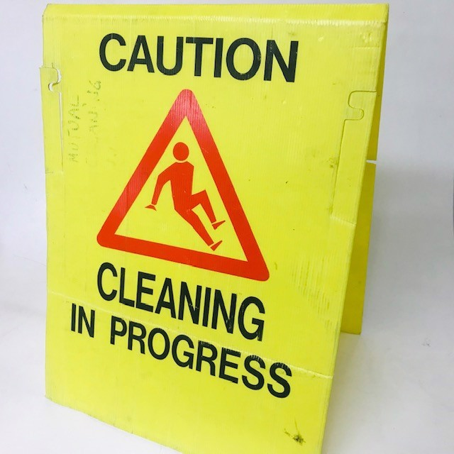 SIG0690 SIGN, Safety A-frame - Caution Cleaning In Progress 45cm x 60cm H $6.25