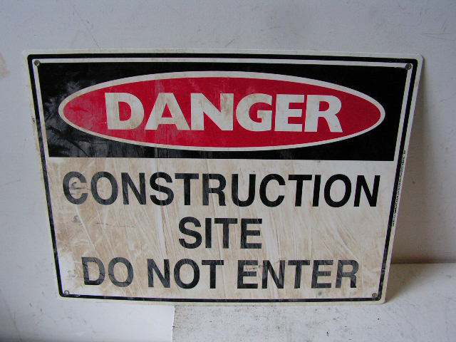 SIG0304 SIGN, Construction - Site Do Not Enter $12.50