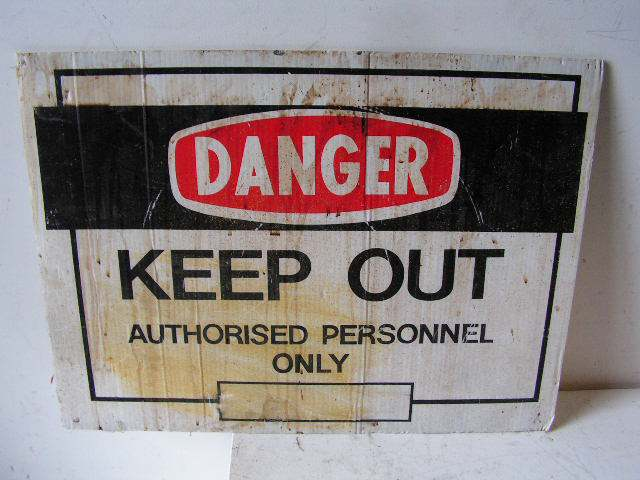 SIG0307 SIGN, Construction - Keep Out (Version 2) $12.50