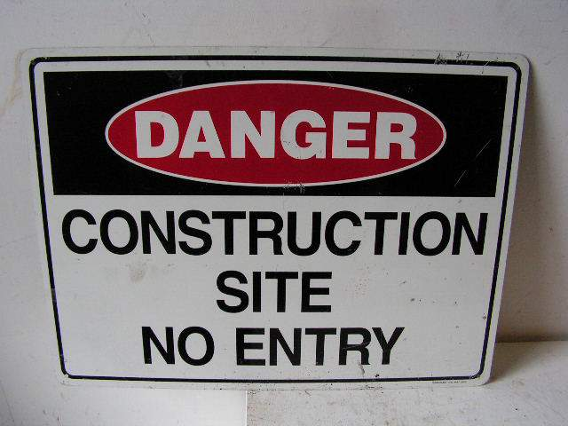 SIG0311 SIGN, Construction - Site No Entry $12.50