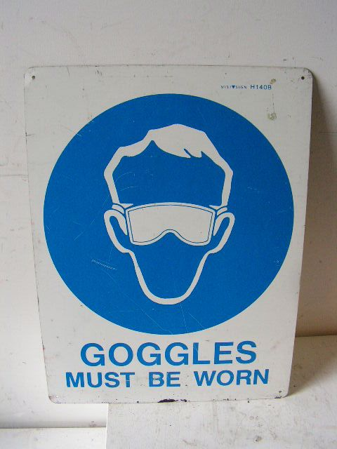 SIG0320 SIGN, Construction - PPS Goggles $11.25