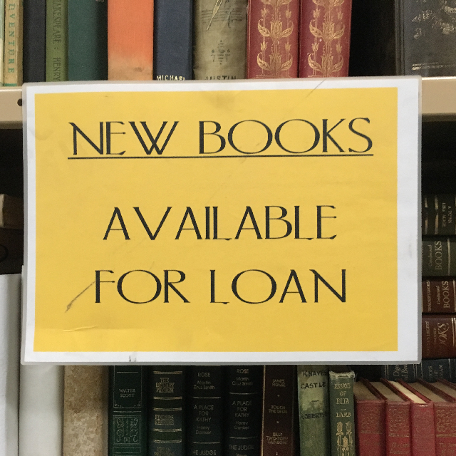 SIG0610 SIGN, Library  - New Books (Laminated A4) $5