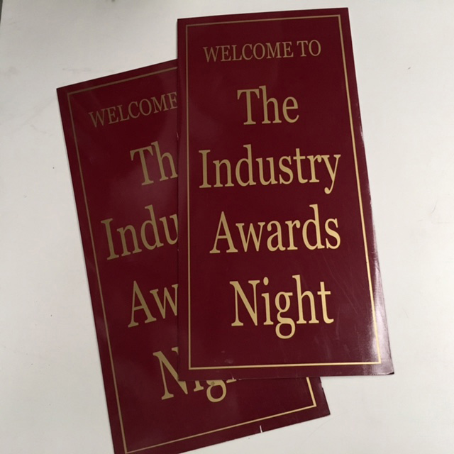 SIG0034 SIGN, Industry Awards Night 32 x 66cm $18.75