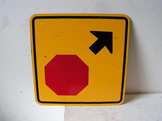 SIG0350 SIGN, Road Sign - Stop sign ahead $22.50