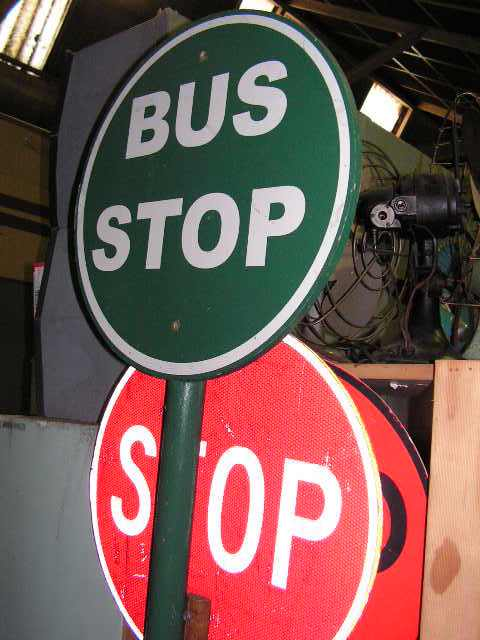 SIG0354 SIGN, Road Sign - Bus Stop Lollipop Green $27.50