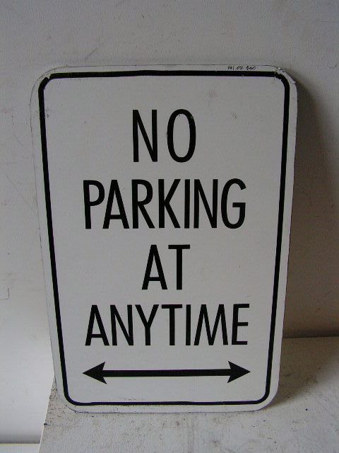 SIG0360 SIGN, Road Sign - No Parking Black $11.25