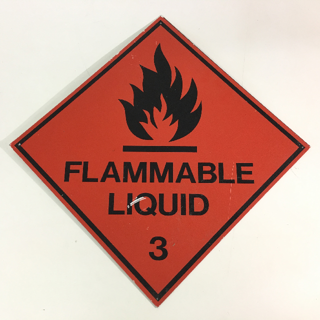 SIG0684 SIGN, Safety - Chemical Warning Flammable 27 x 27cm $7.50