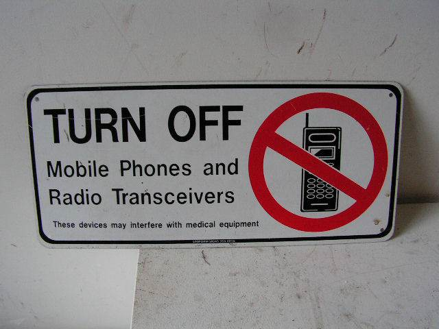 SIG0053 SIGN, Safety - Turn off Mobile $7.50