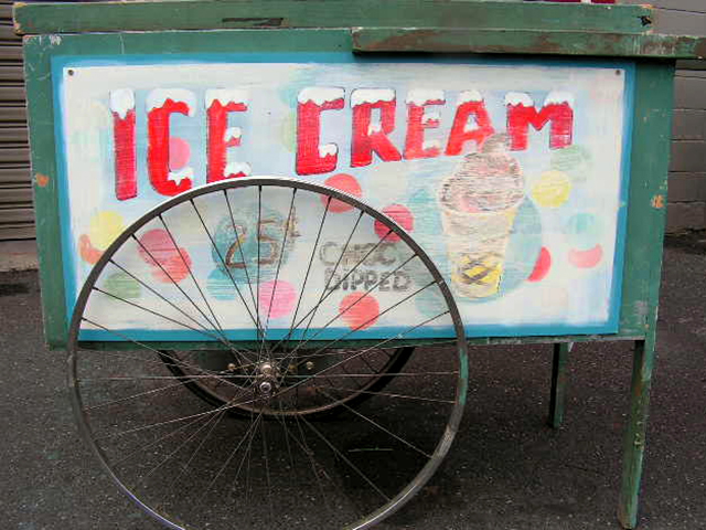 SIG0501 SIGN, Cart Sign - Ice Cream $30