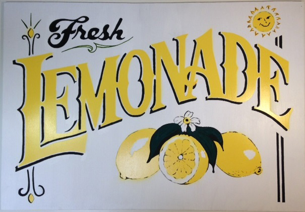 SIG0502 SIGN, Cart Sign - Lemonade $30