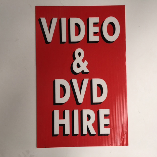 SIG0073 SIGN, Store - Video & DVD Red 45 x 70cm $22.50