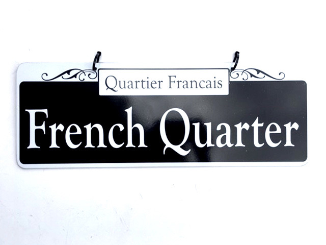 SIG0732 SIGN, Street - New Orleans French Quarter $12.50