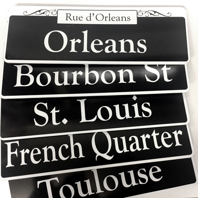 Collection of New Orleans Street Signs $12.50 Each
