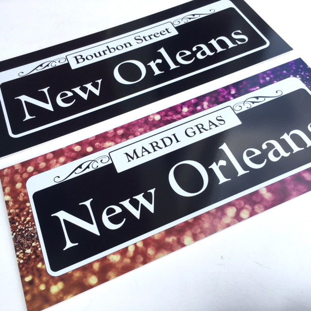 SIG0730 SIGN, Street - New Orleans Large 25cm x 60cm Reversible $37.50
