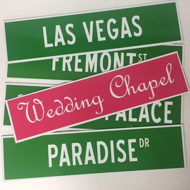 Vegas Street Signs $12.50 Each