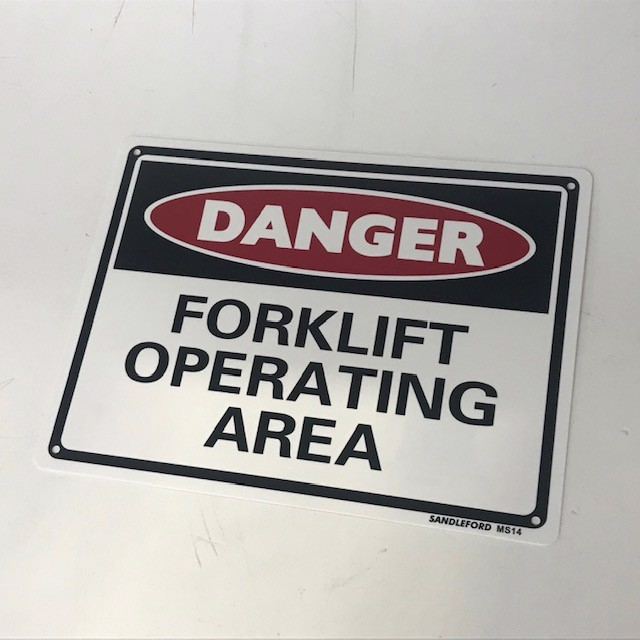 SIG0250 SIGN, Construction - Danger Forklift Operating Area 22 x 29.5cm $3.75